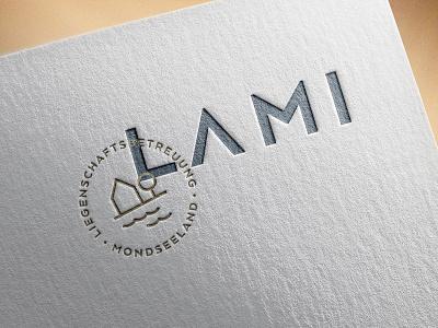 LAMI – property management property management caretaking housing letterpress emboss branding logo