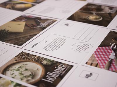 Hoeflmaier postcards graphic design print design flyer food postcard brochure design