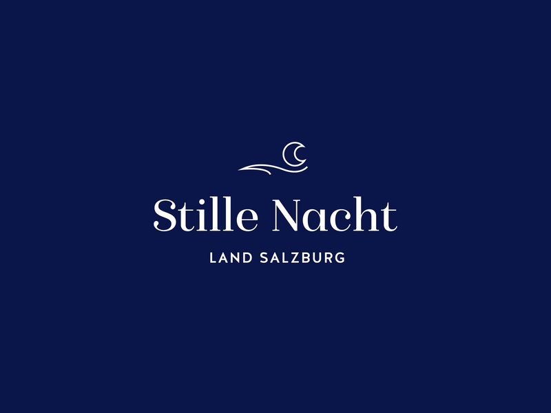 Stille Nacht Logo typography graphic design design austria silent night blue winter christmas branding logo