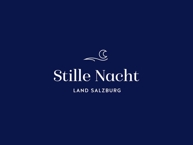 Stille Nacht Logo typography graphic design design austria silent night blue winter christmas branding logo