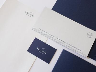 Stille Nacht Branding typography dark blue night blue logo christmas silent night design branding