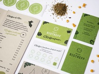 Rebranding of Marias Biotreff paper green organic print design typography fresh illustration logo food design graphic design branding