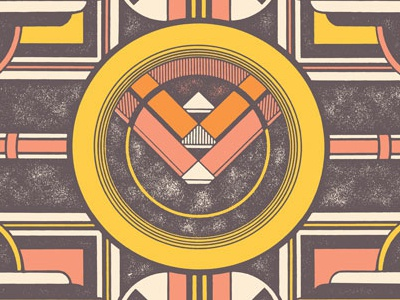 Tame Impala poster tame impala psychedelic retro vintage shapes overlays