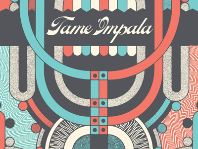 Tame Impala Tour Poster tame impala gigposter tour music psychedelic