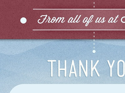 Thank You texture script typography design email lines