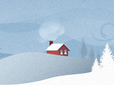 First Shot 2: The Second Shot! illustration house snow chimney red trees