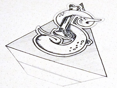 Leviathan Society logo design sketch pyramid pencil ink paper concept in progress