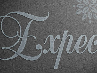 Type type typography shadow subtle balmoral script