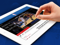 Sports Website Concept - Tablet View