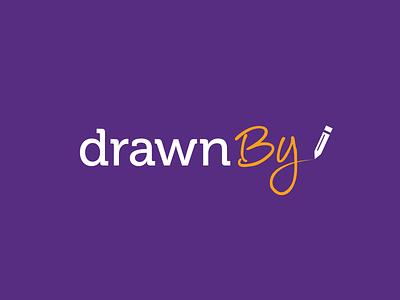 DrawnBy branding concept logo