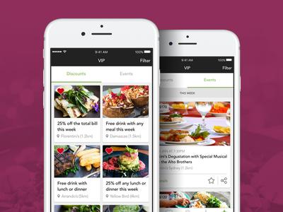 Foodie App ux ios mobile app