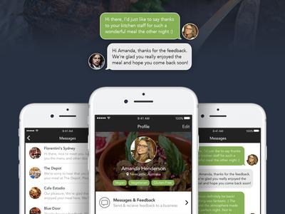 Foodie App ux mobile ios app