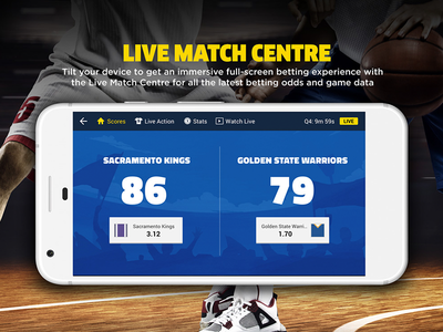 Live Sports Match Centre sports app android ux ui mobile