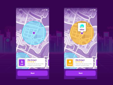 Venues - Mobile App Concept map interface ux app mobile ui