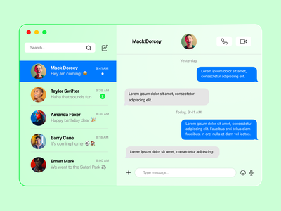 Air Messenger android figma apple dribbble transparent wednesday trending chat messaging messenger glass card typography ux ui app logo design branding icon