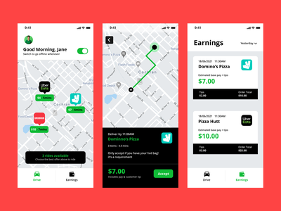 Driver - Multi tenant platform photoshop dribbble card dashboard delivery dispatch map android ride uber ux vector illustration typography ui app icon design logo branding