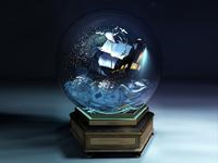 C4D////Crystal ball
