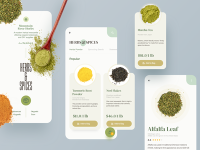 Mountain Rose Mobile Site Exploration ecommerce ecommerce design herbs website uidesign ux ui design