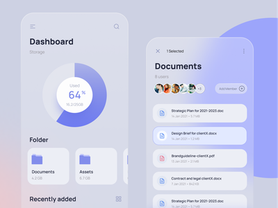 Cloud File Management file management cloudstorage interaction design app uidesign ux ui