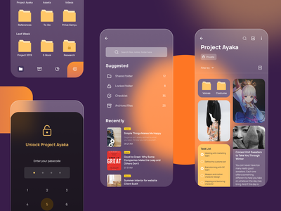 Notes and File Manager file management interaction design uidesign ux ui