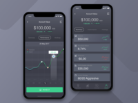 Invest App UI Dark Version