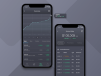 Invest App UI Dark Version Currencies