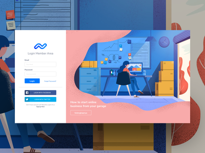 Login Page Experimentation ux challenge ui  ux design illustration login form landing page conversion rate optimisation high fidelity