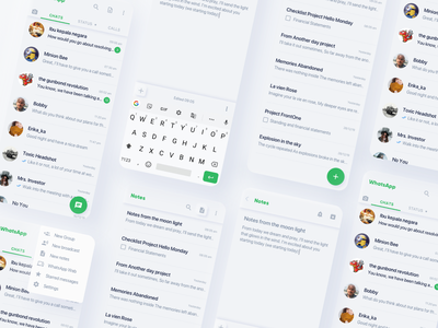 WhatsApp soft UI (Neumorphism)? 🤔 product design interfacedesign neumorphism uidesign app ux ui design