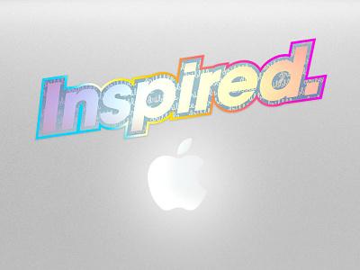 Inspired sticker hologram colors foil sticker