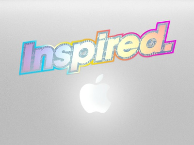 Inspired sticker hologram colors foil sticker