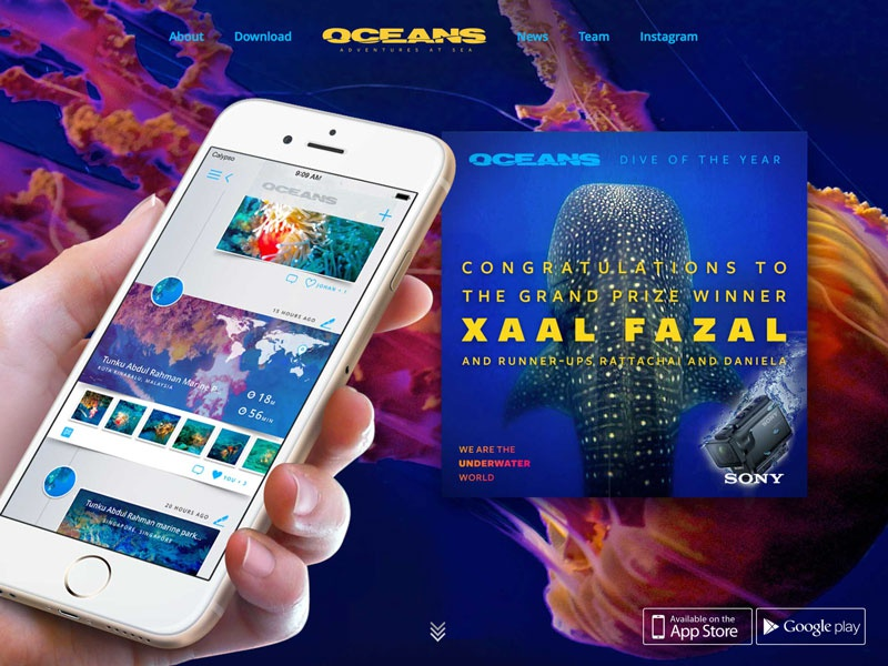 New landing page for Oceans.io web landing page ux ui oceans