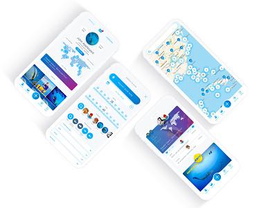 Oceans 2.0 Whale Shark product design app ui ux oceans