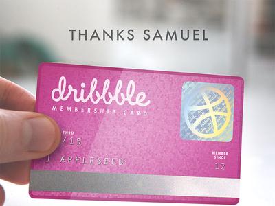 Dribbble Membership Card