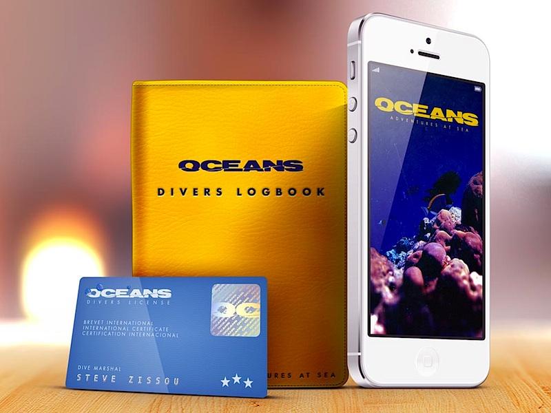 Oceans oceans scuba diver zissou 2013 photoshop book card iphone ocean water