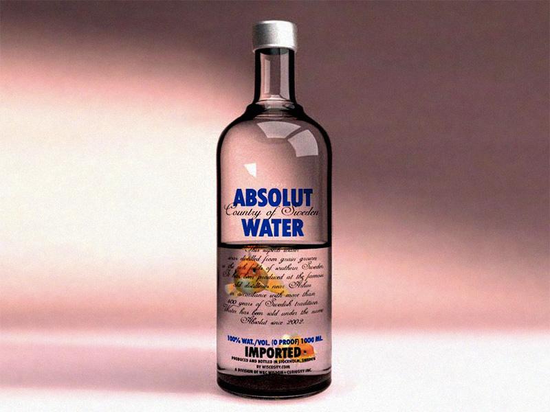 Absolut Dribbble absolut water bottle fish goldfish 3d render glass