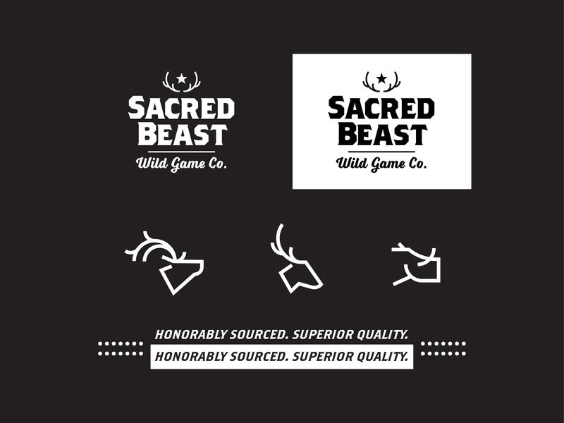 Sacred Beast icons antlers boar deer branding logo icon