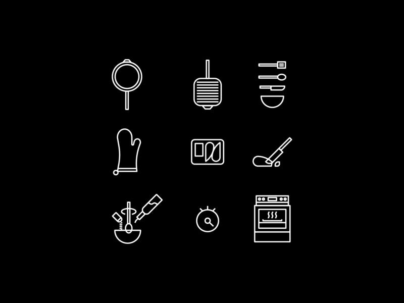 Kitchen Icons cooking kitchen icons set icon