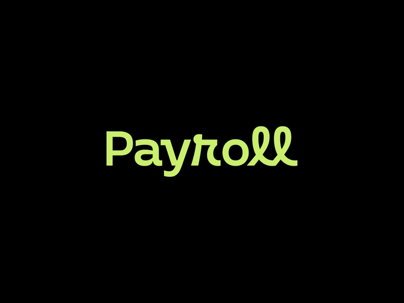 Payroll Logo typographic modernism mark identity typography icon logo branding