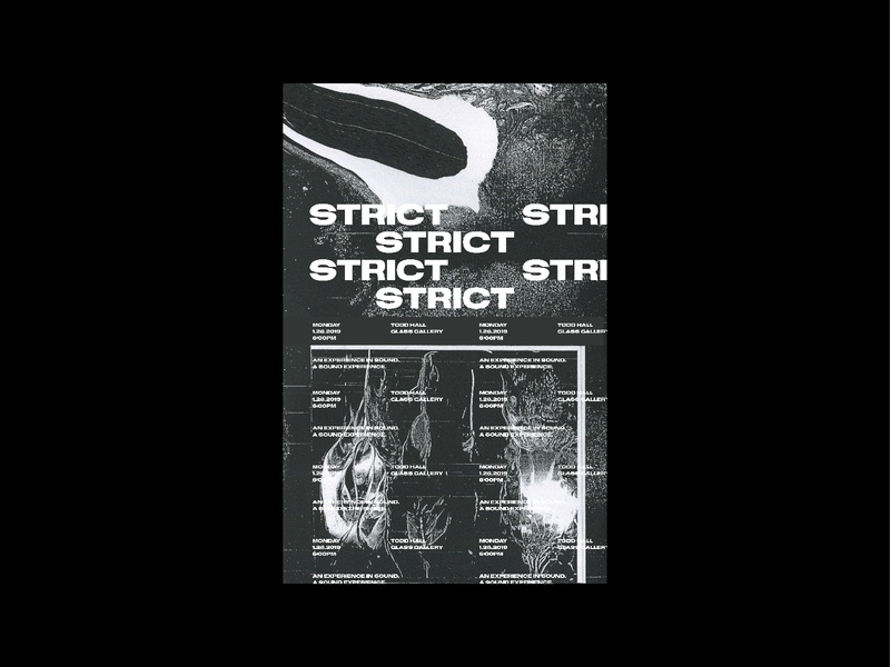Strict Poster Series minimalism collage art adobe texture swiss grid construction grid layout grid design abstact poster art poster a day poster collage typography