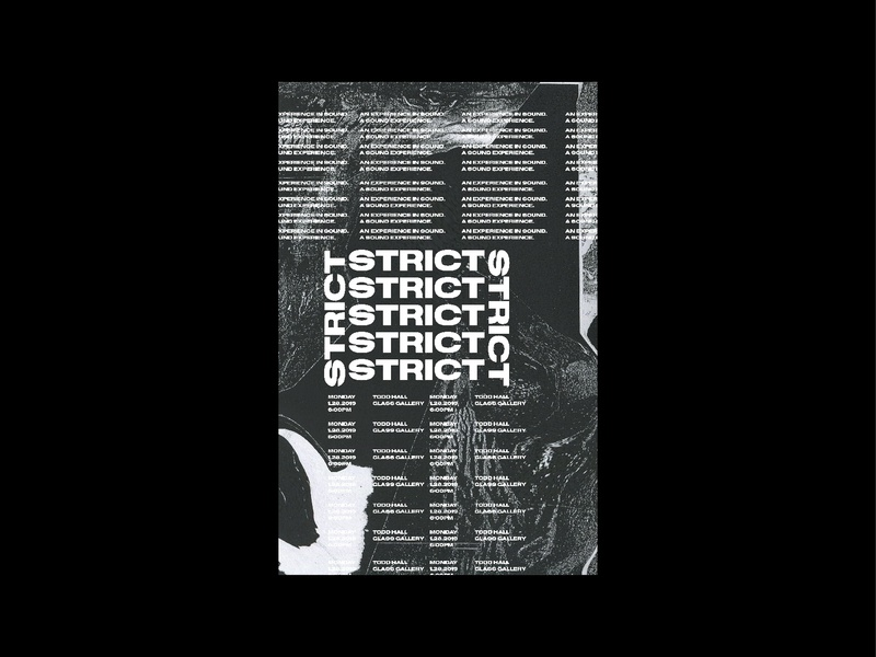 Strict Poster Series minimalism texture poster challenge poster a day poster abstract design grid construction grid layout grid design swiss typography