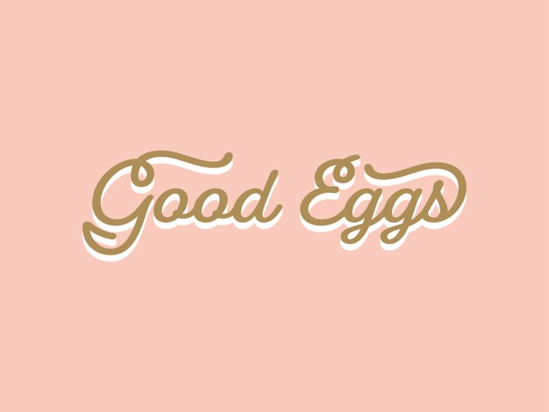 Good Eggs Assets icon beauty product beauty logo farmer farmers market farm typeface logo makeup eggs script