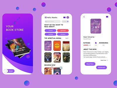 BOOK APP CONCEPT - Your Book Store uiux bookapp uidesign userinterfacedesign ui