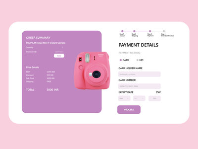 DAILYUI CHALLENGE - Credit Card Checkout Page  #Dailyui #Day2 ui creditcardpage 002 dailyui challenge dailyui userinterfacedesign