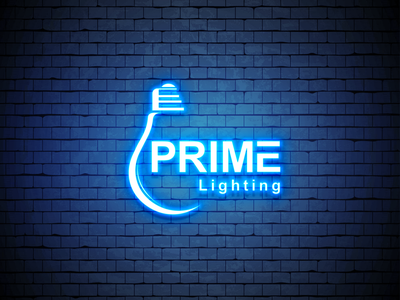 Prime Lighting Logo Design creative logo logo busines branding vector design illustration creative