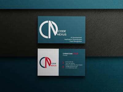 Code Nexus Business Card branding graphic design logo busines vector creative illustration design business card