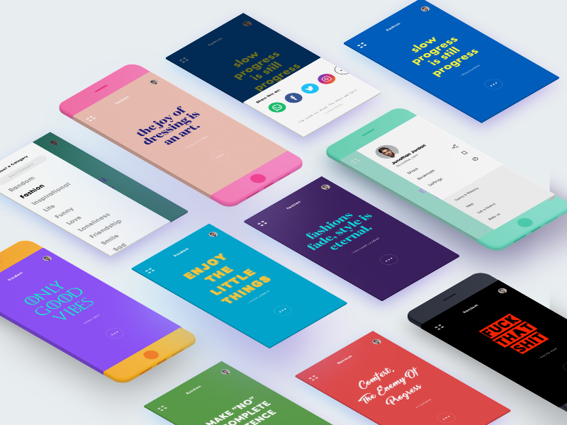 Quote Generator App Screens by Manoj 🇮🇳 on Dribbble