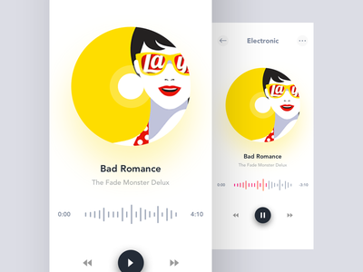 Music Player Concept ui ux clean music player design concept app player music