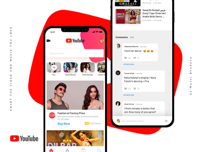Youtube Redesign Concept minimalistic design ui ux ios app concept redesign youtube