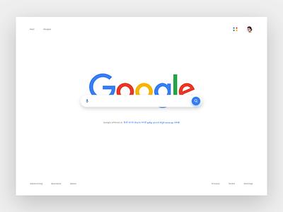 Google Search Redesign googleteam manoj webdesign clean concept redesign search google