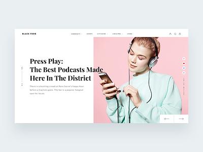Black Frog - A unisex online lifestyle magazine. lifestyle magazine manoj bhadana minimal clean interface ui ux web webdesign website